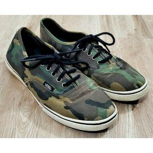 Vans Womens Authentic Camo Green Sneakers Size 9